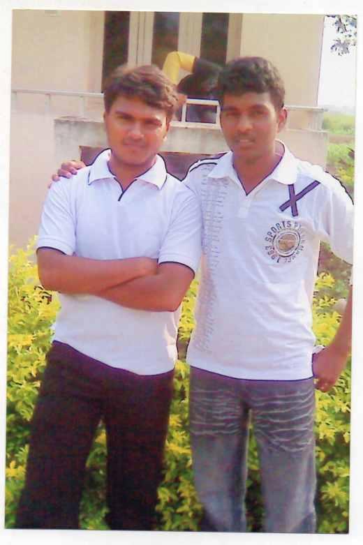 Riyaz with his friend Rohith. (Photo provided by Sheikh Riyaz)