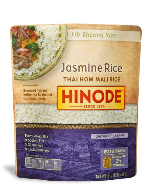 2 1/2 Minute Sharing Size Rice Pouches - Microwavable Jasmine Rice