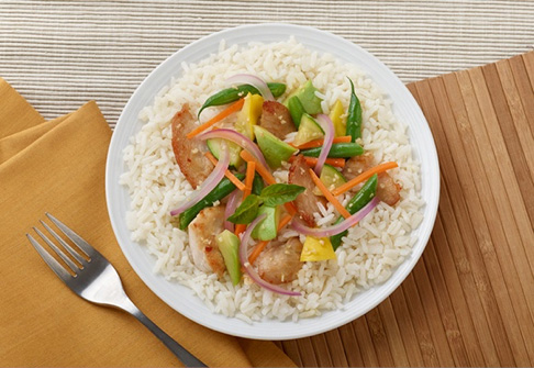 image of chicken vegetable rice