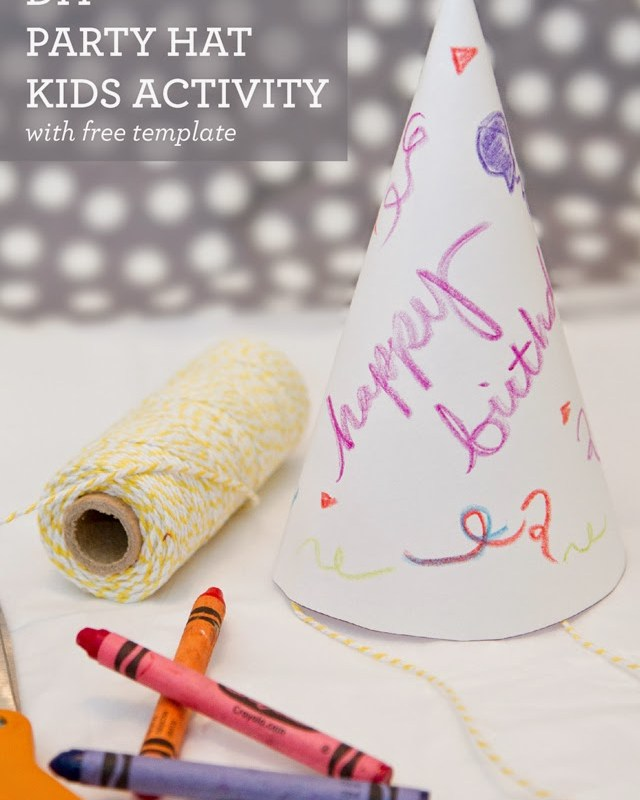 DIY Party Hat Kids Activity with free template