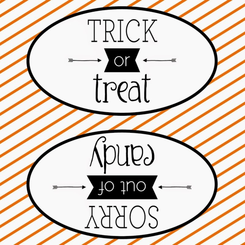 Double Sided Halloween Sign – with Free Printable