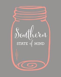 Southern State of Mind Mason Jar Free Printable_Grey