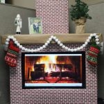 Christmas Faux Cardboard Fireplace Mantel