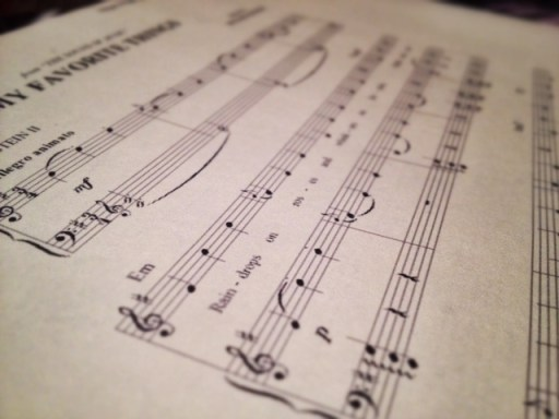 picture of sheet music of my favorite things