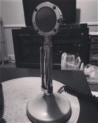 old 1940s radio microphone