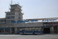 front of kabul airport
