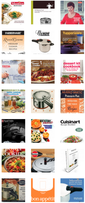 Free Pressure Cooker Recipe Booklets & Instruction Manuals