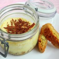 Limoncello Ricotta Cheesecake-in-a-jar with Hazelnut Choccolate Splinter Topping
