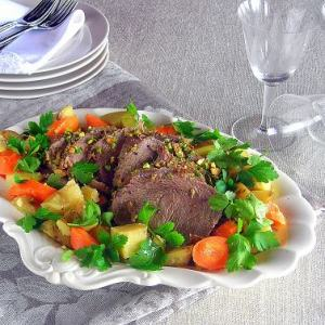 Pistachio Crusted Roast, with Carrots and Potatoes - Lesson 7: One Pot Meal Pressure Cooker Pot Roast