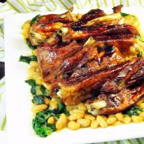 BBQ Ribs with Bean Salad (one pot)