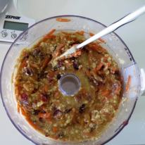 Stir in dried fruit and shredded carrot