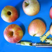 Core the apples.