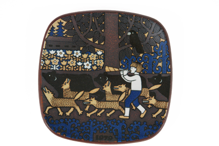 1979 Arabia Kalevala date plate designed by Raija Uosikkinen