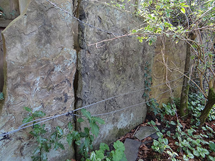 old stone flag wall
