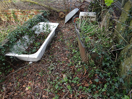 old metal baths on our allotment