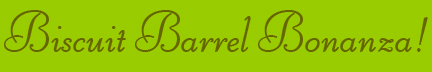 &quot;Biscuit Barrel Bonanza&quot; blog post banner