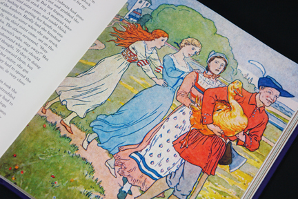 illustration for the Golden Goose story