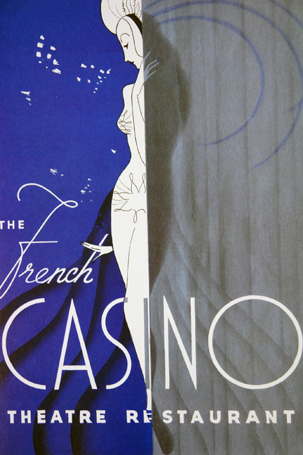 The French Casino Theatre menu