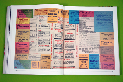 "page from ""Menu Design in America"""