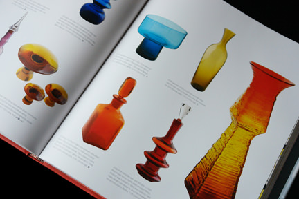 collection of vintage mid-century modern glass vases