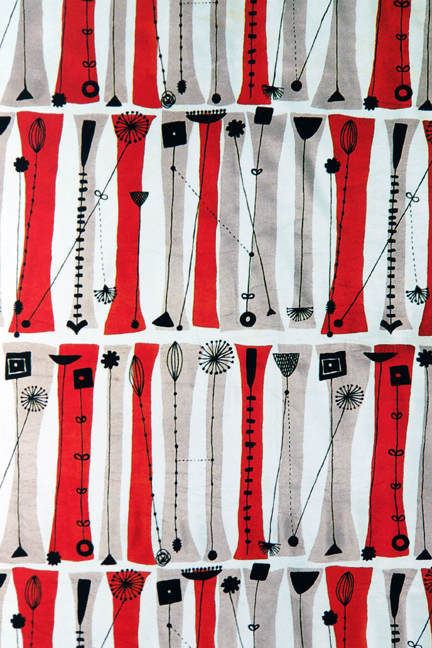 vintage Springboard pattern designed by Lucienne Day in 1954