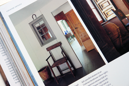 "page showing a simple country chair from ""The Way We Live In the Country"" by Stafford Cliff & Gilles de Chabaneix"