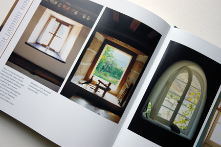 "page featuring different windows with deep sills from ""The Way We Live In the Country"" by Stafford Cliff & Gilles de Chabaneix"