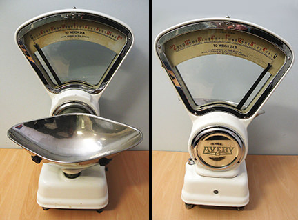 vintage Avery scales being sold on eBay for Charity by & in support of Devon Air Ambulance Trust