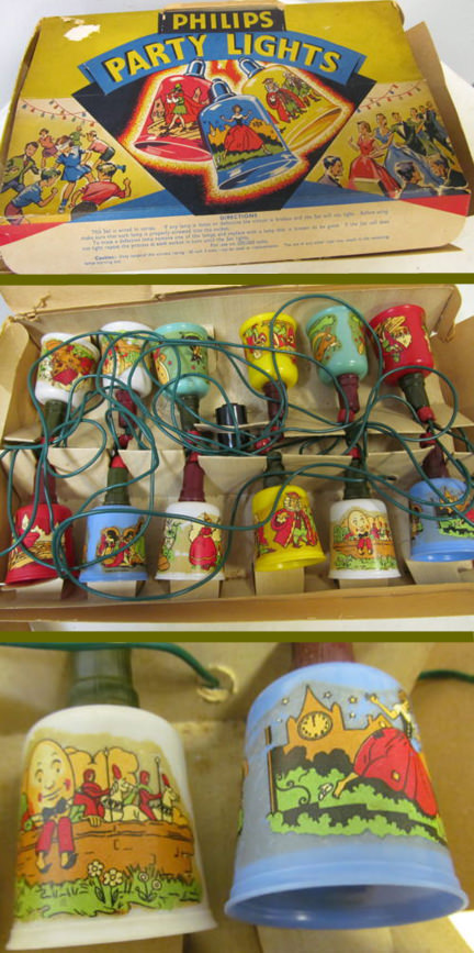vintage Philips Christmas lights being sold on eBay for Charity in support of Sense