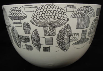 vintage Finel mushroom design bowl by Kaj Frank for sale on eBay for Chrity by & in support of CLIC Sargent