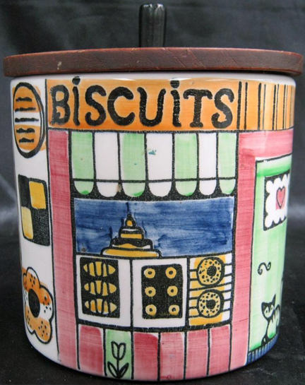 Jie Gantofta biscuit jar for sale in support of Dove House Hospice on eBay for Charity