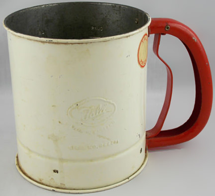 vintage Tala flour sifter for sale by & in support of British Heart Foundation