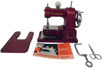 vintage Vulcan child's sewing machine for sale on eBay for Charity by & in support of CLIC Sargent