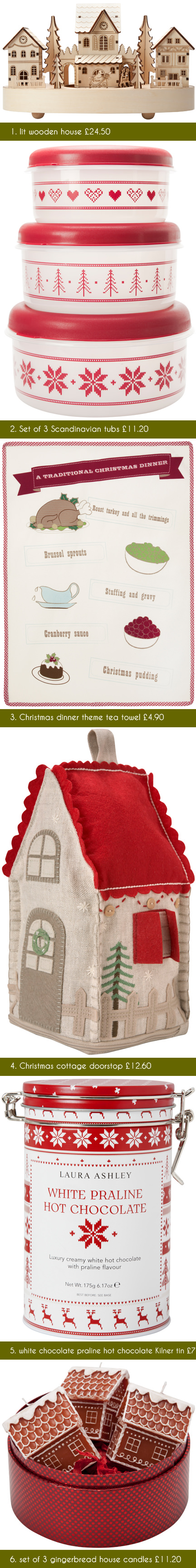selection of festive Christmas items available from Laura Ashley