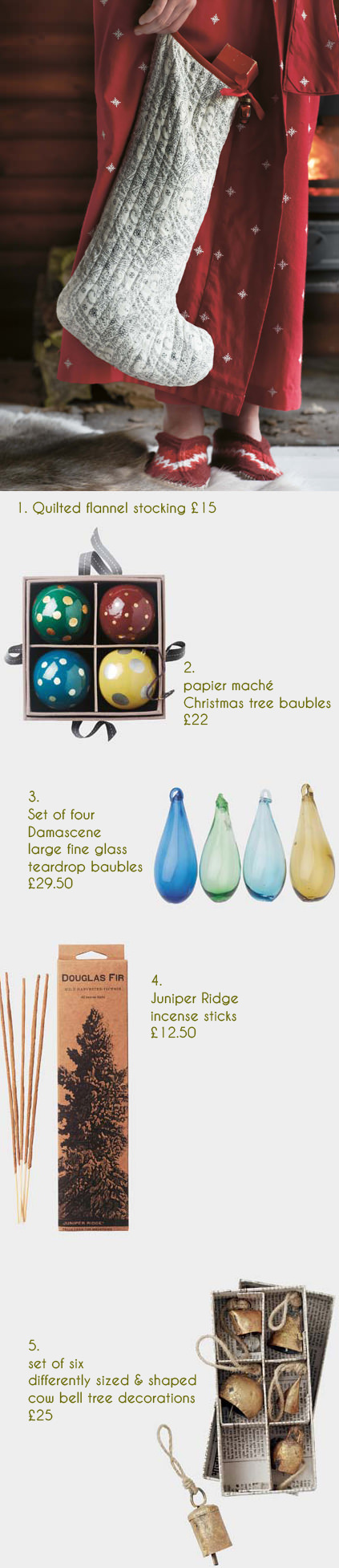 selection of festive Christmas items available on the Toast website