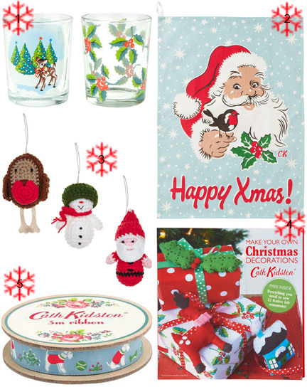 selection of Christmas items from Cath Kidston