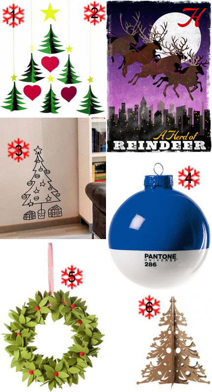 A selection of Christmas items from Fab