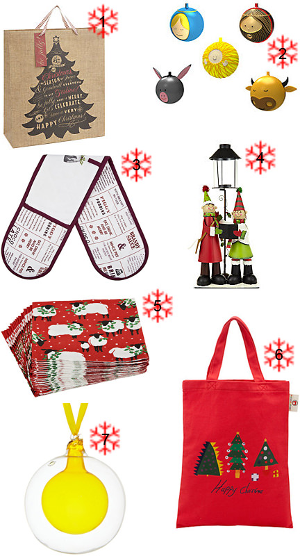 Selection of Christmas items from John Lewis