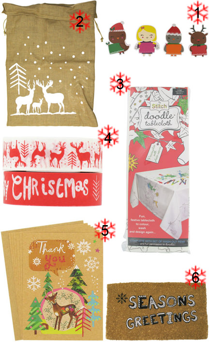 selection of Christmas items from Paperchase