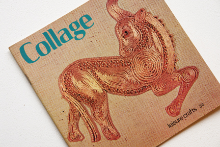 cover of a vintage craft booklet on how to do collage