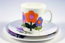 vintage 'Dolly Days' cup and saucer designed by John Russell for Hostess Tableware in the 1960s