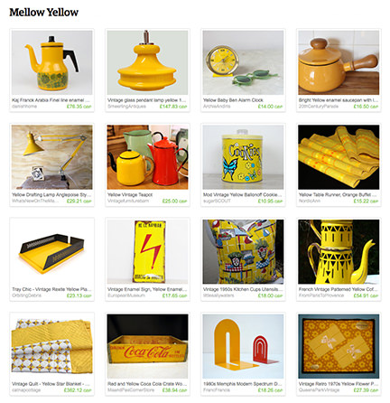 'Mellow Yellow' H is for Home Etsy List
