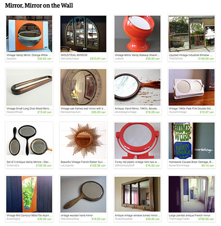 'Mirror, Mirror on the Wall' H is for Home Etsy List
