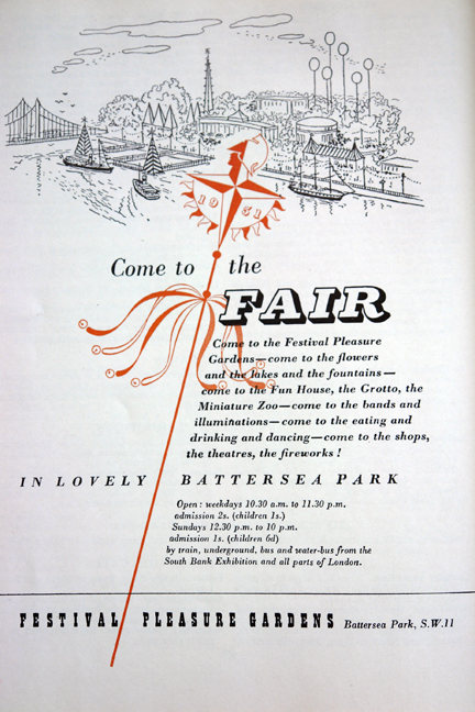 Battersea Park Fair in original 'Festival of Britain' catalogue