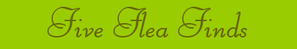 """Five Flea Finds"" blog post banner"