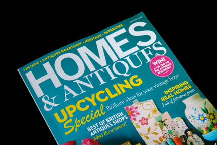 cover of the May 2012 edition of Homes and Antiques magazine