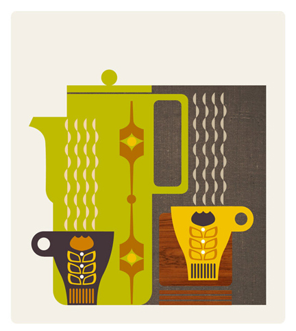 Coffee with a hint of Hornsea - digital print by Amanda Shufflebotham aka GraffikHeart