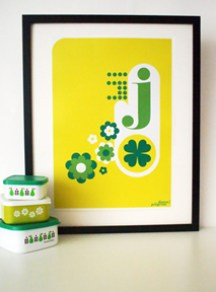 framed letter 'J' by Pilgrim Lee