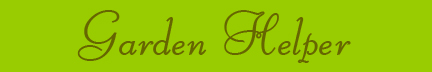 Garden Helper blog banner