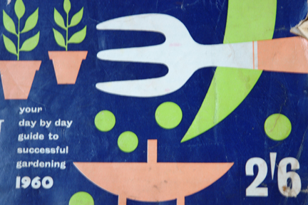 detail of vintage gardening annual from 1960
